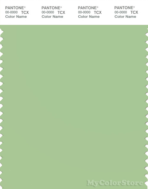 PANTONE SMART 14-0121X Color Swatch Card, Nile Green