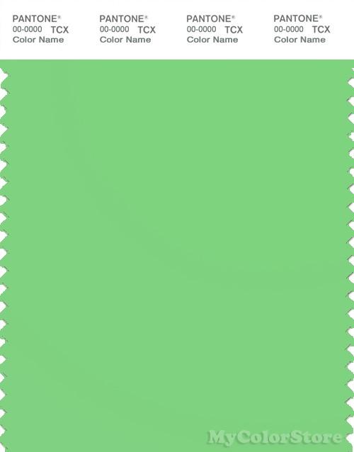 PANTONE SMART 14-0156X Color Swatch Card, Summer Green