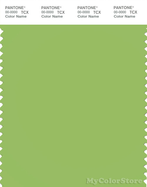 PANTONE SMART 14-0244X Color Swatch Card, Bright Lime Green