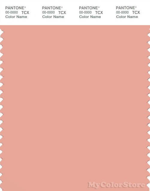 PANTONE SMART 14 1318X Color Swatch Card Coral Pink