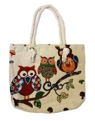 Owl Design Canvas Bag