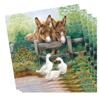 Donkey and Duck Napkins