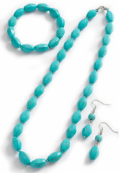 Turquoise Bead Necklace Set