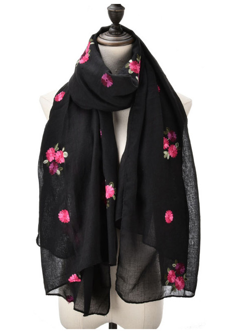 Black with rose design