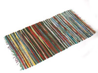 Multi Cotton Stripe Runner Rug