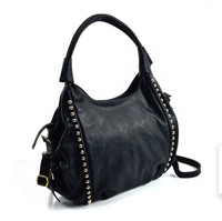 Stylish Dome Tote Bag in Black