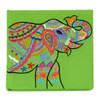 Embroidered Elephant Note Book Lime