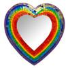 Rainbow Heart Shaped Mosaic Mirror