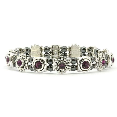 Amethyst Bouquet Magnetic Bracelet