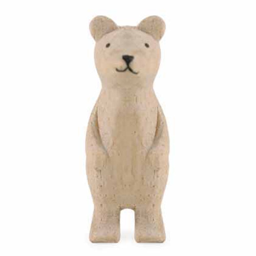 Small Standing Wooden Bear