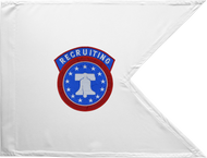Army Recruiting Guidon Framed 16x20
