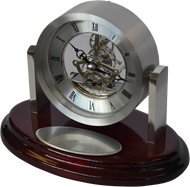Marco Metal Desktop Gift Clock On Rosewood Base RWS67
