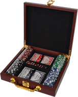 Rosewood Box Poker Set
