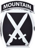 10th Mountain Division Car Emblem