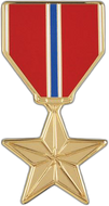 Bronze Star Car Emblem