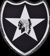 2nd Infantry Division Car Emblem