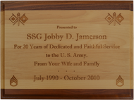 Genuine Dual Tone Alder Wood Plaques