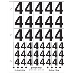 """1"""" and 2"""" Number 4"""