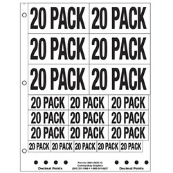 """1"""" and 2"""" 20 Pack"""