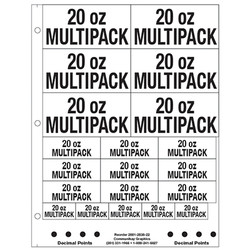"""1"""" and 2"""" 20oz Multipack"""