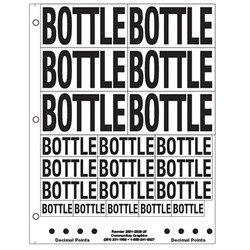 """1"""" and 2"""" Bottle"""