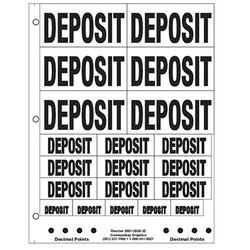 "1"" and 2"" Deposit"