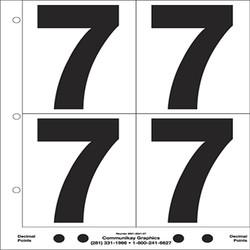 "5"" Number 7"