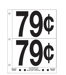 """5"""" Pre-priced 79¢"""