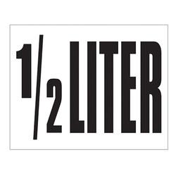 Small Banner Label - 1/2 Liter
