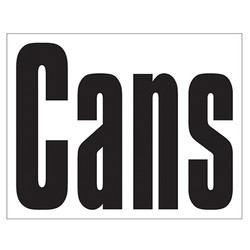 Small Banner Label - Cans