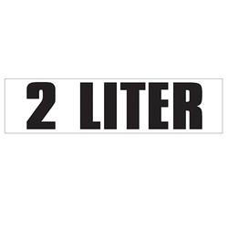 Medium Banner Label - 2 Liter