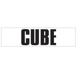 Medium Banner Label - Cube