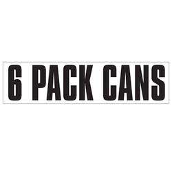 Medium Banner Label - 6 Pack Cans