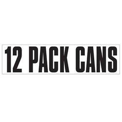 Medium Banner Label - 12 Pack Cans