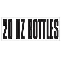 Large Banner Label - 20 oz Bottles