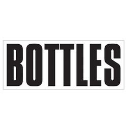 Large Banner Label - Bottles