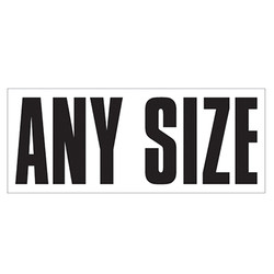 Large Banner Label - Any Size