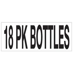 Large Banner Label - 18 Pack Bottles