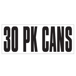 Large Banner Label - 30 Pack Cans