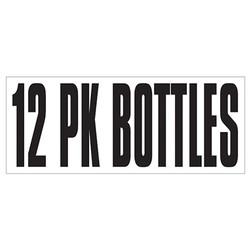 Large Banner Label - 12 Pack Bottles