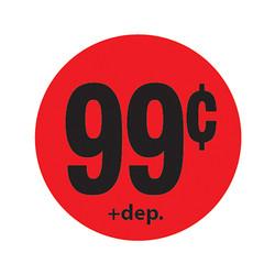 Da-Glos 99¢ plus deposit