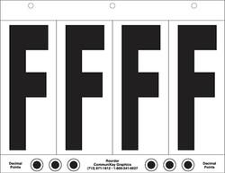 """6"""" Letter F - 4/sht"""