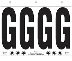 """6"""" Letter G - 4/sht"""