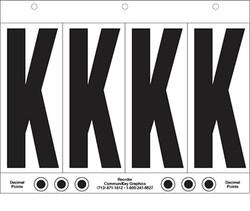 """6"""" Letter K - 4/sht"""