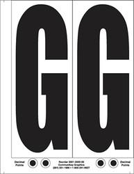 """9"""" Letter G - 2/sht"""