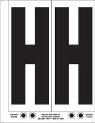 """9"""" Letter H - 2/sht"""