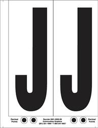 """9"""" Letter J - 2/sht"""