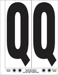 "9"" Letter Q - 2/sht"