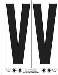 """9"""" Letter V - 2/sht"""