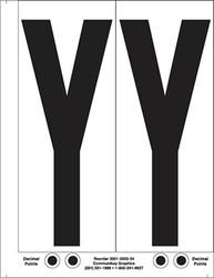 "9"" Letter Y - 2/sht"